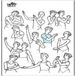 Diversos - Posturas de ballet