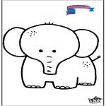 Dibujos Infantiles - Primalac - elefante