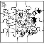 Manualidades - Puzzle Barrio Sésamo