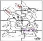 Puzzle conejo de Pascua 2