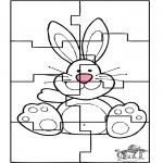 Temas - Puzzle conejo de Pascua 3