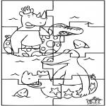 Manualidades - Puzzle de Babar