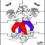 Manualidades - Puzzle de Carnaval