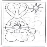 Manualidades - Puzzle de conejo