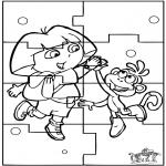 Manualidades - Puzzle de Dora