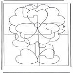 Manualidades - Puzzle de flor