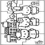 Manualidades - Puzzle de Hello Kitty