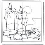 Manualidades - Puzzle de vela