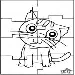 Manualidades - Puzzle gato