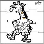 Manualidades - Puzzle jirafa