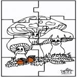 Manualidades - Puzzle - Otoño