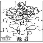 Manualidades - Puzzle Winx