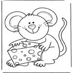 Animales - Ratón con queso