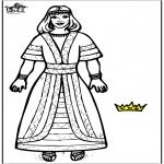 Dibujos de la Biblia - Reina Ester 2