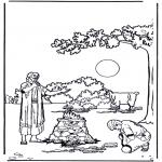 Dibujos de la Biblia - Sacrificio de Isaac 1