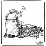 Dibujos de la Biblia - Sacrificio de Isaac 2