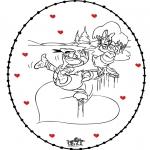 Temas - San Valentín Tarjeta Bordada