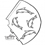 Manualidades - Sobrero de delfín