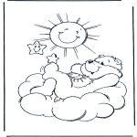 Dibujos Infantiles - Sol de Oso Amoroso
