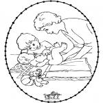 Temas - Tarjeta bordada - bebé 1