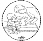 Tarjeta bordada - bebé 1