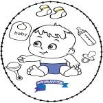 Temas - Tarjeta bordada - bebé 2