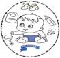 Tarjeta bordada - bebé 2