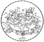 Tarjeta bordada de Bubu