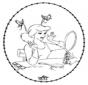 Tarjeta bordada de Cenicienta
