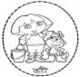 Tarjeta bordada de Dora 1