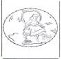 Tarjeta bordada de personajes 3
