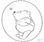 Tarjeta bordada de Pooh 2