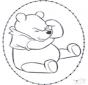 Tarjeta bordada de Winnie the Pooh 1