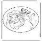 Tarjeta bordada - el rey león