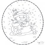 Invierno - Tarjeta bordada invernal 1