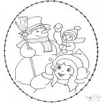 Invierno - Tarjeta bordada invernal 2