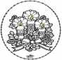 Tarjeta bordada - Vela