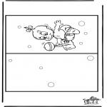 Manualidades - Tarjeta de bebé 4