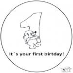 Manualidades - Tarjeta de cumpleaños: 1 años