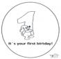 Tarjeta de cumpleaños: 1 años