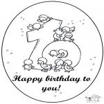 Manualidades - Tarjeta de cumpleaños: 10 años