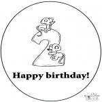 Manualidades - Tarjeta de cumpleaños: 2 años