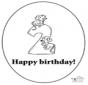 Tarjeta de cumpleaños: 2 años