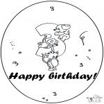 Manualidades - Tarjeta de cumpleaños: 3 años