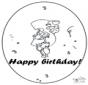 Tarjeta de cumpleaños: 3 años