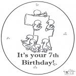 Manualidades - Tarjeta de cumpleaños: 7 años