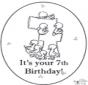 Tarjeta de cumpleaños: 7 años