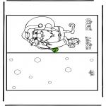 Navidad - Tarjeta de felicitación navideña 16