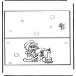 Manualidades - Tarjeta navideña 9