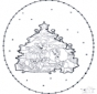 Tarjeta navideña bordada 1